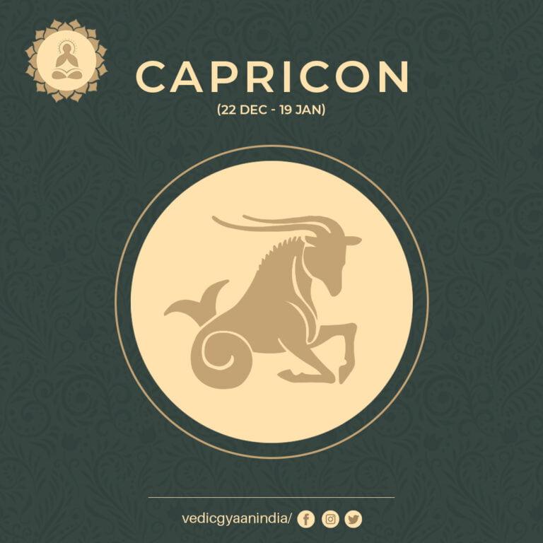 Zodiac Sign – Capricorn (December 22 – January  19)
